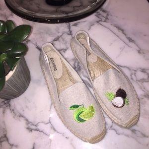 Soludos Lime&Coconut Smoking Slipper Espadrilles 8